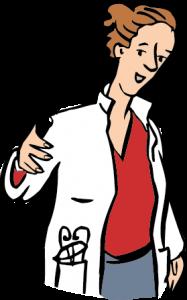Eine Ärztin.