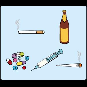 Verschiedene Drogen.
