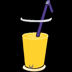 Ein Getränk in einem Glas.