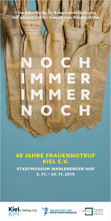 Titel des Flyers der Veranstaltung zu 40 Jahre Frauennotruf Kiel e.V.